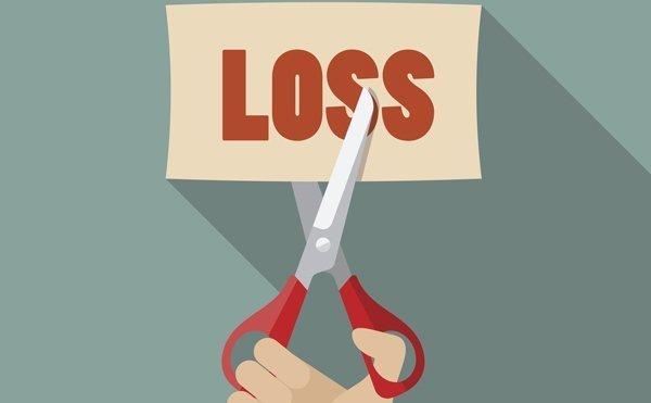 Businessman cut loss