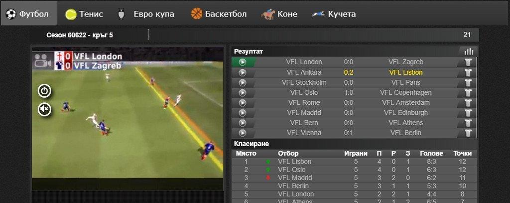 efbet виртуални спортове - залози