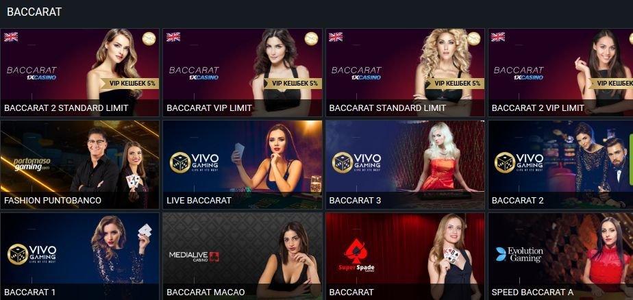 1xbet live casino