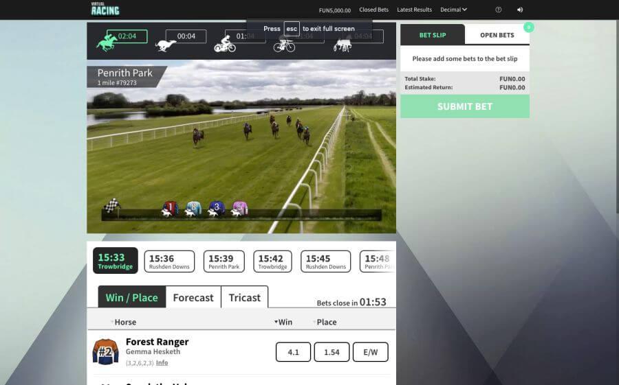 Виртуални спортове коне
