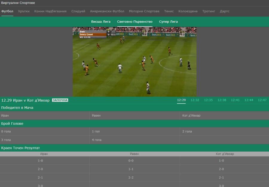виртуални спортове бет365 стрийм